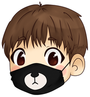 [BTS] Kim Taehyung (V) | Bear Mask by WangJungie