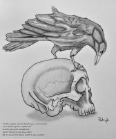 Skull and Raven by NoOneUnique