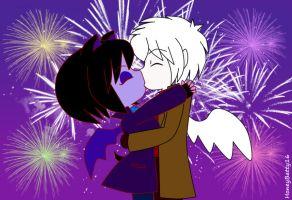 New Year Kiss by HoneyBatty16