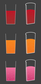 Glasses Of Juice by Axle9
