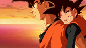 Goku and Goten by ELordy