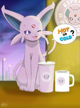 Hot or Cold? ( Espeon ) by Winick-Lim