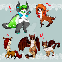 For Sale adoptables -Closed- by Drachen-D-Adrik