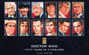 DOCTOR WHO 50th ANNIVERSARY TRIBUTE Doctors 1-12 by MJasonReed