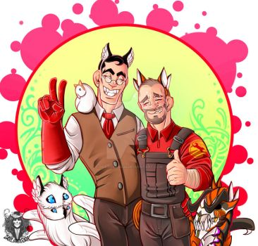 TF2 Day 10: With animal ears by DeathRage22