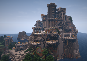Minecraft Terraced Castle by Trinapple