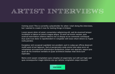 Artist Interview Banner by Katy-L-Wood