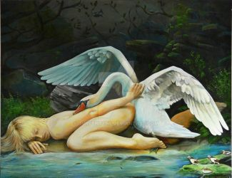 Leda and the Swan by turpentyne