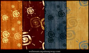 Grungy Summer Sun Patterns by WebTreatsETC