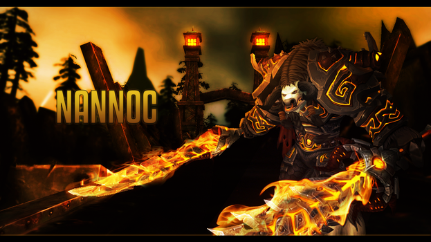 Wallpaper Nannoc Fireswords by NannocDesign