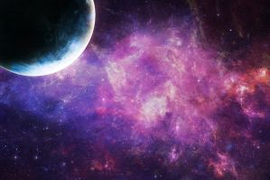 Galaxy and Planet by Lyshastra