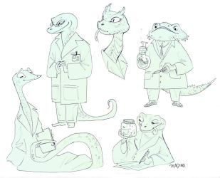 Science Lizards by TeaDino