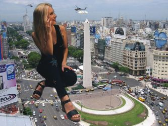 Giantess Agostina Scalise in Buenos Aires by zebostinha2003