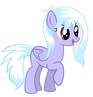 CloudChaser with her hair down. by FreeFraQ