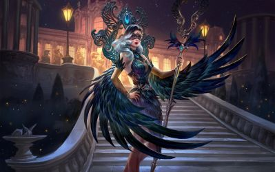 SMITE Midnight Raven Isis by Scebiqu