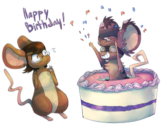 Happy Birthday Melibellule by Vullo