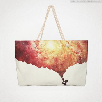 The universe in a soap-bub (Weekender) @threadless by mrsbadbugs