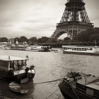Eiffel Tower and Houseboats by madvax