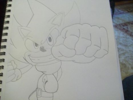 Drawing: Super Sonic by TheSonicfan8