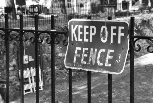 Keep Off Fence by cb-smizzle