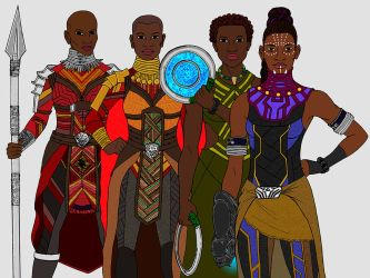 Warriors of Wakanda by tapwater86
