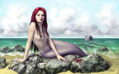 Felicity Jones as Mermaid by xenbis