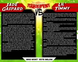Tournament Match 40: Jade Gaspard vs Lil' Timmy by Dreamkeepers