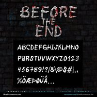 MB Before the End | Scratched Font by modblackmoon