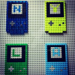Lego Gameboy Color Name Plate by Nyla130