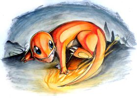 Charmander by DestroyedSteak