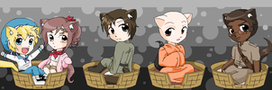 Hetalia Kitties 10 by pinkkittypower