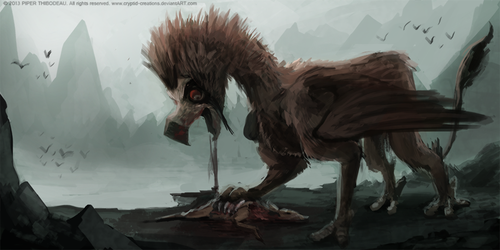 DAY 270. Bearded Griffin by Cryptid-Creations