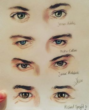 spn cast eyes by archangelwithatardis