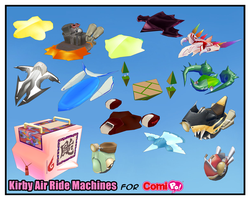 Comipo Kirby Air Ride Machines DL by Dragoshi1