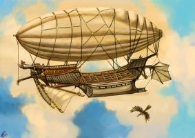 Sky ship by Crowsrock