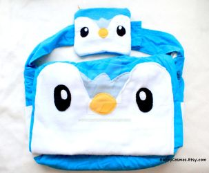 Piplup Bag and Pouch by CosmiCosmos