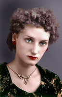 Zinaida in 1956. Colorized. by anyword