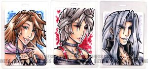 ConBADGE: FFVII + FFX2 by dizziness