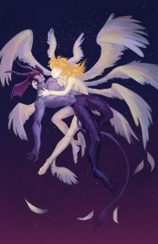 Fall of Devilman by deloonoo