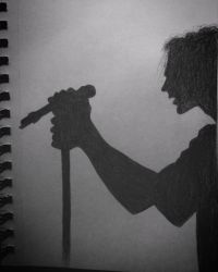Day #18 , Vedder Silhoutte by crazyskullz1021