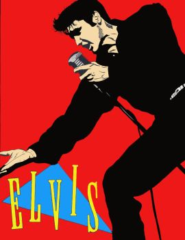 Elvis Presley Recolored by RoyPrince