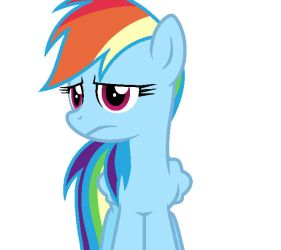 Perturbed Rainbow Dash by Pupster0071