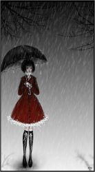 it is sad how the rain falls by Sibylle
