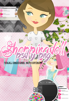 +Shopping Doll PSD - PNG by iVaal-Designs