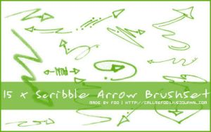 Scribble Arrow Brushset by FooWater
