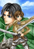 Fight on! Rivaille and Eren by Tsukishibara