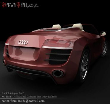 Audi r8 spyder (back) by zoom-from-inside