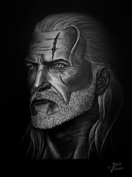 The Witcher - Geralt drawing by JakubQaazAdamski