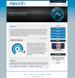 Aeovin Website by SystemOverload