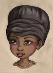 Young Aretha Franklin by JadeDragonne